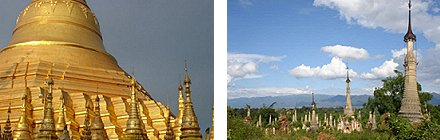 Shwedagon Pagoda, Yangon and Indein Stupa Complex