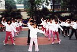 Amy's pupils, Chengdu - Morning Exercise